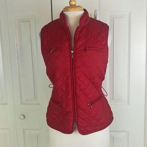 4/$25 Croft & Barrow red quilted zip up vest